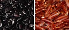 Arroz pigmentado, negro y rojo